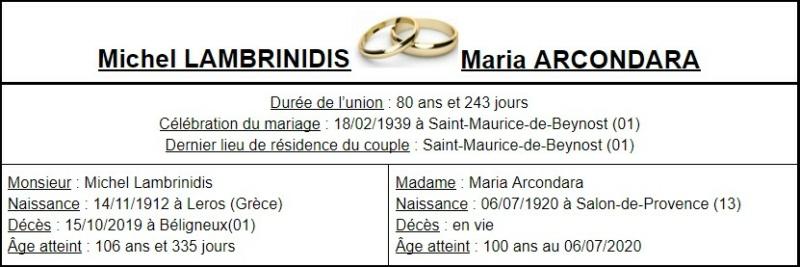 E- LES PLUS LONGS MARIAGES FRANÇAIS Couple50
