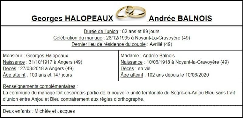 E- LES PLUS LONGS MARIAGES FRANÇAIS Couple52