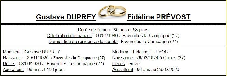E- LES PLUS LONGS MARIAGES FRANÇAIS Couple54