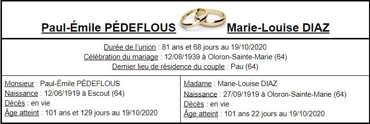 E- LES PLUS LONGS MARIAGES FRANÇAIS Couple57