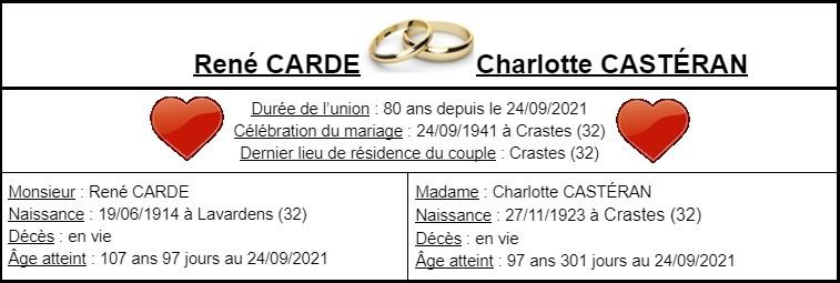 E- LES PLUS LONGS MARIAGES FRANÇAIS Couple62