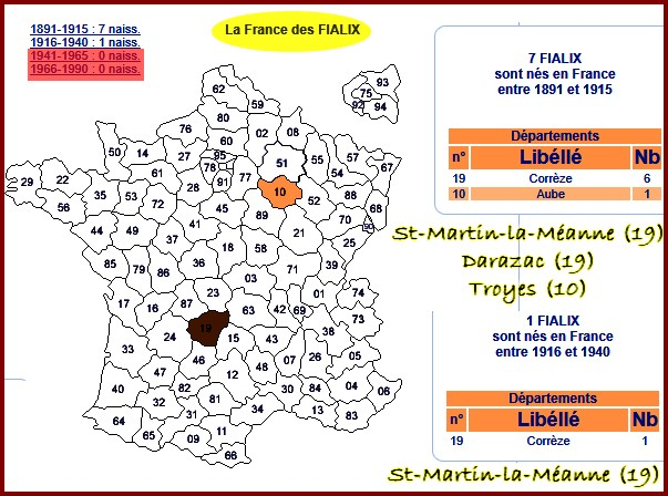 B- PRÉSENTATION DE FRATRIES DE CENTENAIRES France11