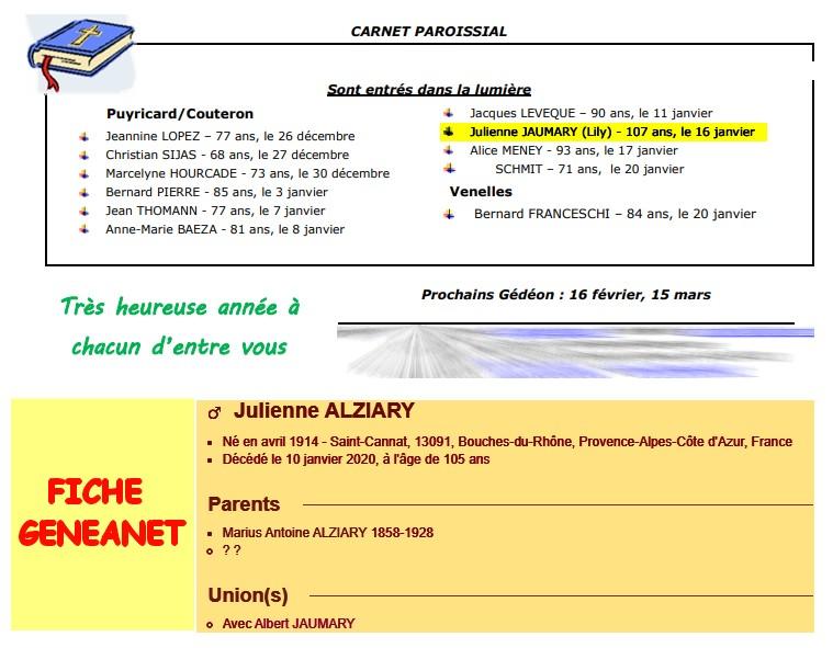 Décès de personnes de 107 ans - Page 3 Julien11