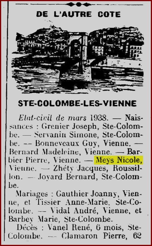 Patronyme de Marcel Meys Nicole10