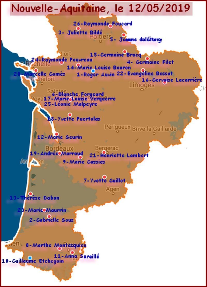 Cartographie des grands centenaires Palmar10