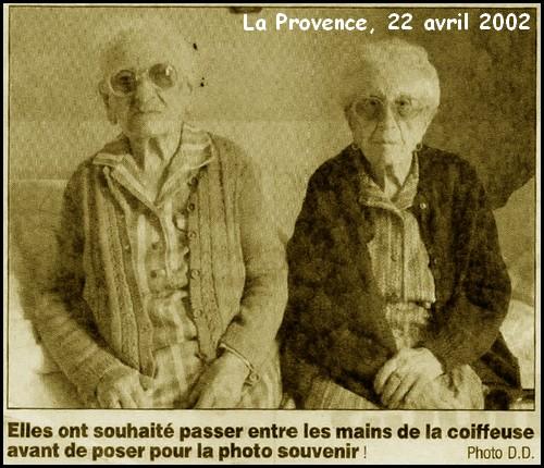 B- PRÉSENTATION DE FRATRIES DE CENTENAIRES - Page 3 Soeurs10