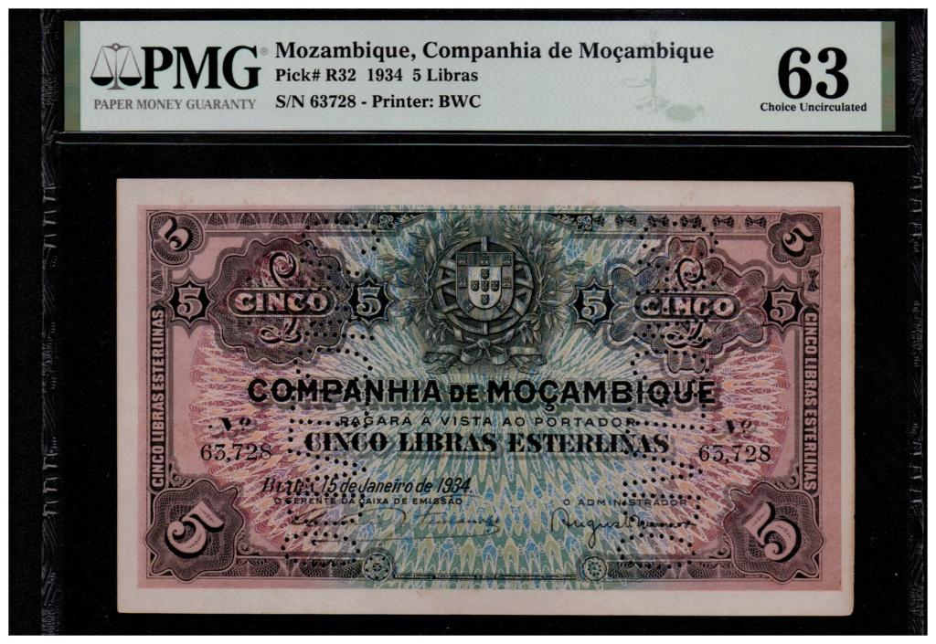 5 Libras Esterlinas Ouro 1919 Mozambique (Banco da Beira) Mozamb12
