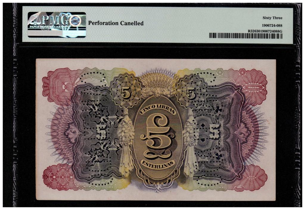 5 Libras Esterlinas Ouro 1919 Mozambique (Banco da Beira) Mozamb13