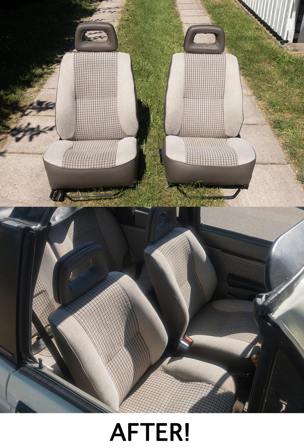 New restored seats for Talbot Samba cab Newsea11