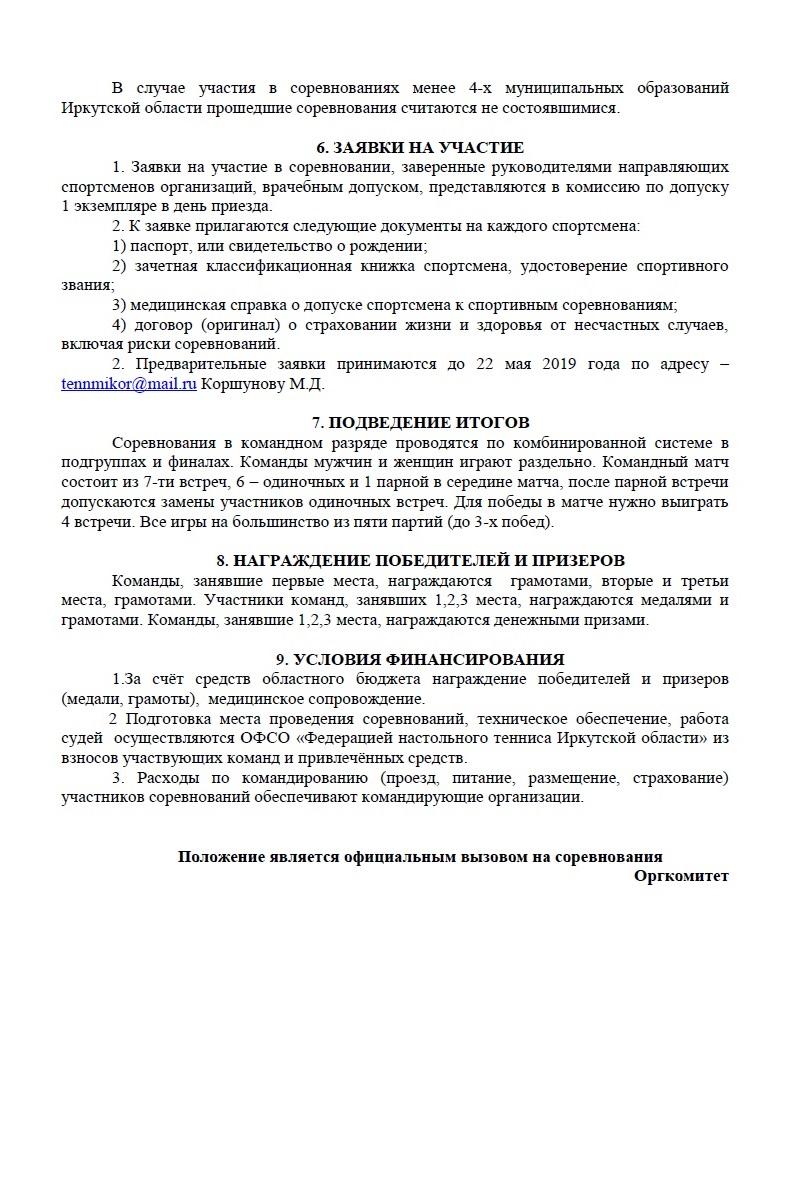Командный чемпионат области 2019 412