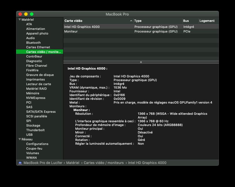 Installation MacOS Mojave Dell Inspiron 15R 5521 Egpu10
