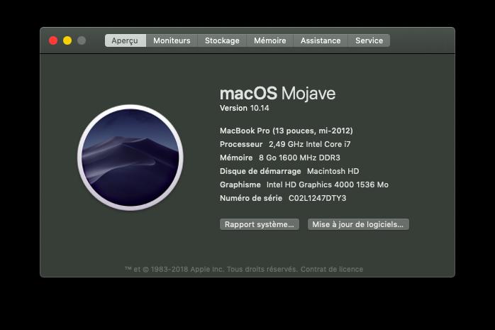 Installation MacOS Mojave Dell Inspiron 15R 5521 Reasum10