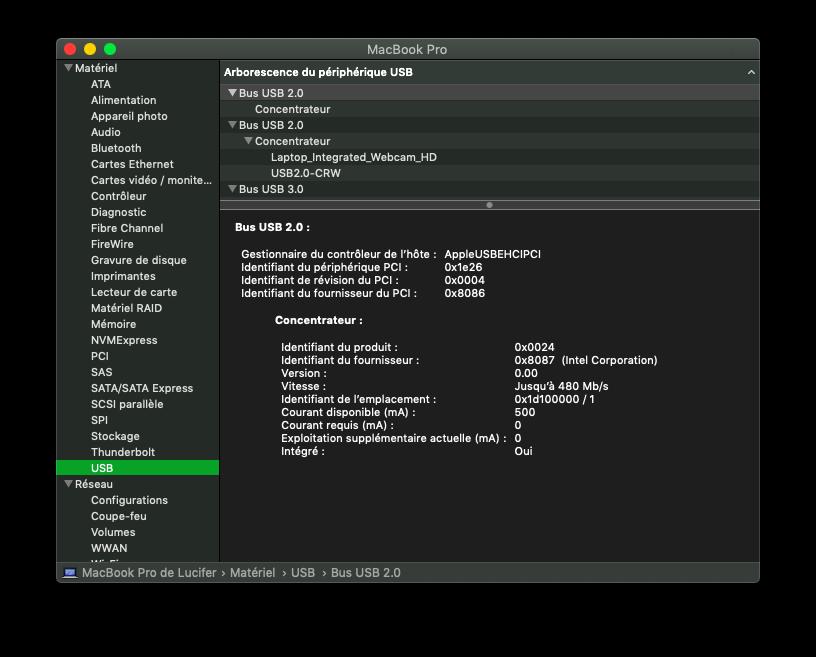 Installation MacOS Mojave Dell Inspiron 15R 5521 Usb10
