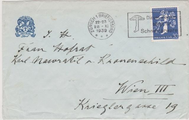 Belege aus der Schweiz, die zensiert wurden 00112