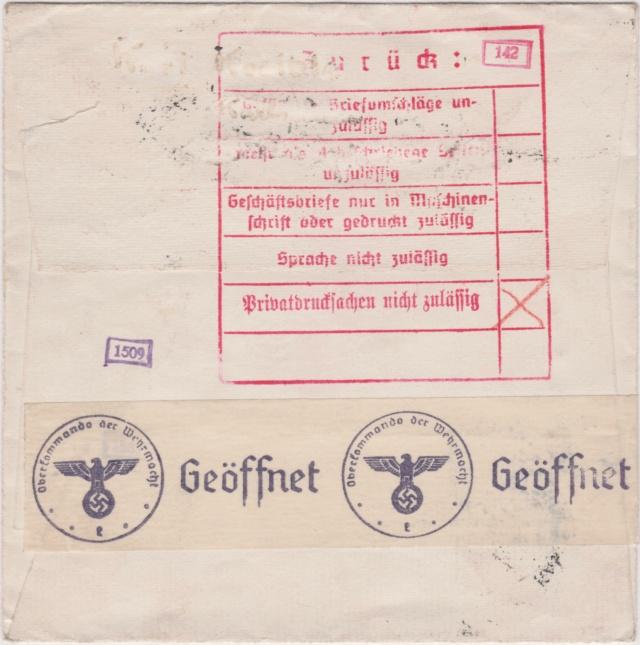 In die Schweiz gelaufene Zensurbelege 00517