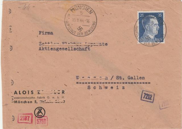 Chemische Zensur auf Belegen in die Schweiz  Img16
