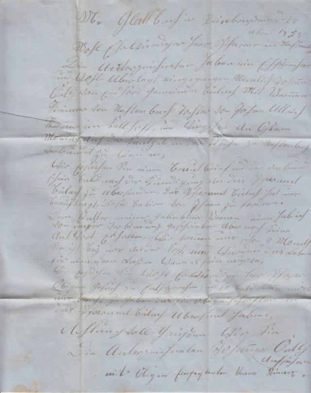 Brief per Einschreiben von Mönchengladbach nach Winterthur, befördert per badischer Bahnpost Img25