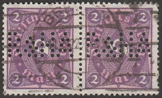 """Deutsches Reich Perfin """"R&HA"""" Img42"""