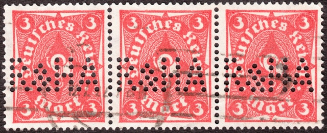 """Deutsches Reich Perfin """"R&HA"""" Img44"""
