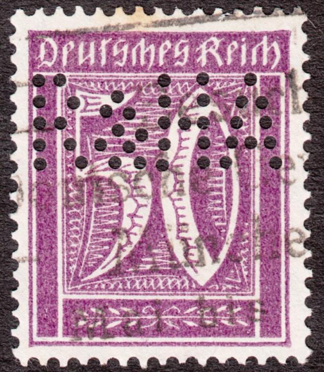 """Deutsches Reich Perfin """"R&HA"""" Img46"""
