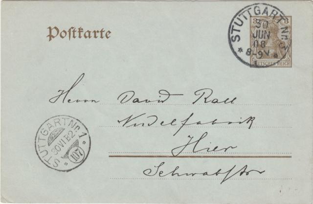 Württemberg - STUTTGART - Briefträgernummernankunftsbestellgangsstempel Img74