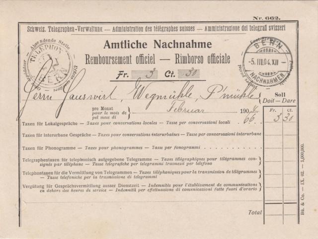 Amtliche Nachnahme - Schweiz. Telegraphen-Verwaltung Img82