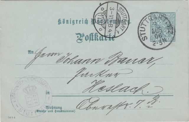 Württemberg - STUTTGART - Briefträgernummernankunftsbestellgangsstempel - Seite 2 Img83
