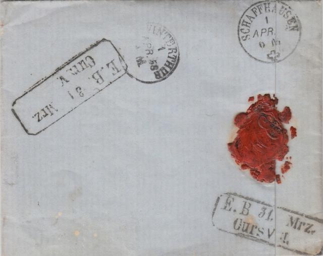 Brief per Einschreiben von Mönchengladbach nach Winterthur, befördert per badischer Bahnpost Img_0092