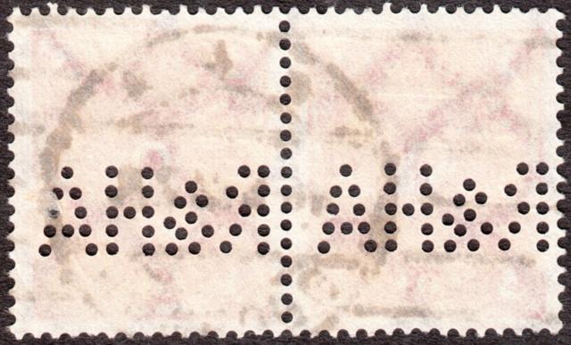 """Deutsches Reich Perfin """"R&HA"""" Img_0147"""