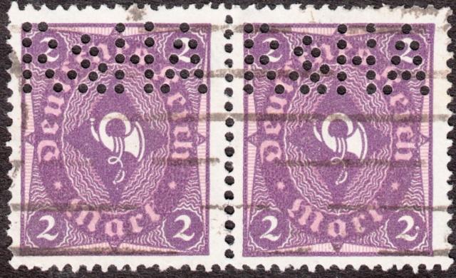 """Deutsches Reich Perfin """"R&HA"""" Img_0149"""