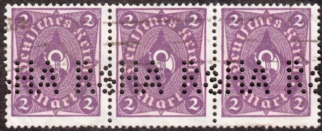 """Deutsches Reich Perfin """"R&HA"""" Img_0151"""
