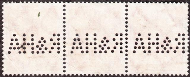 """Deutsches Reich Perfin """"R&HA"""" Img_0154"""