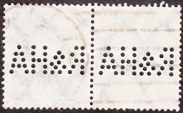 """Deutsches Reich Perfin """"R&HA"""" Img_0155"""