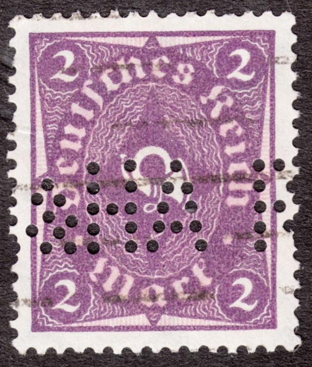 """Deutsches Reich Perfin """"R&HA"""" Img_0159"""