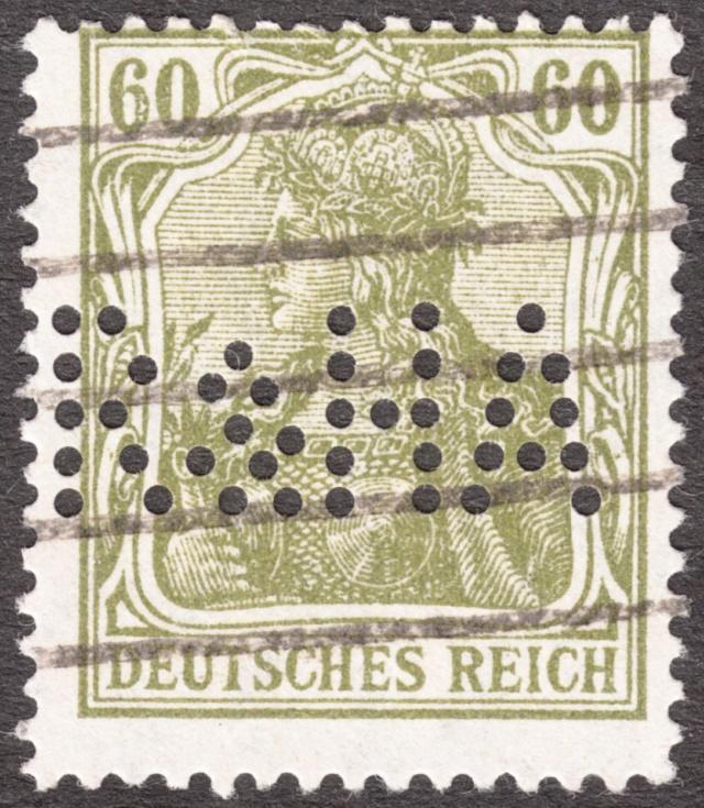 """Deutsches Reich Perfin """"R&HA"""" Img_0163"""