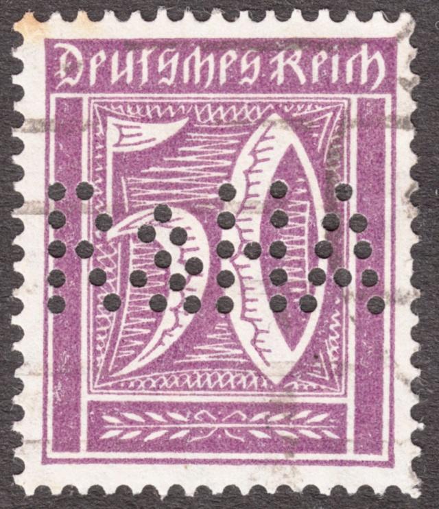 """Deutsches Reich Perfin """"R&HA"""" Img_0165"""