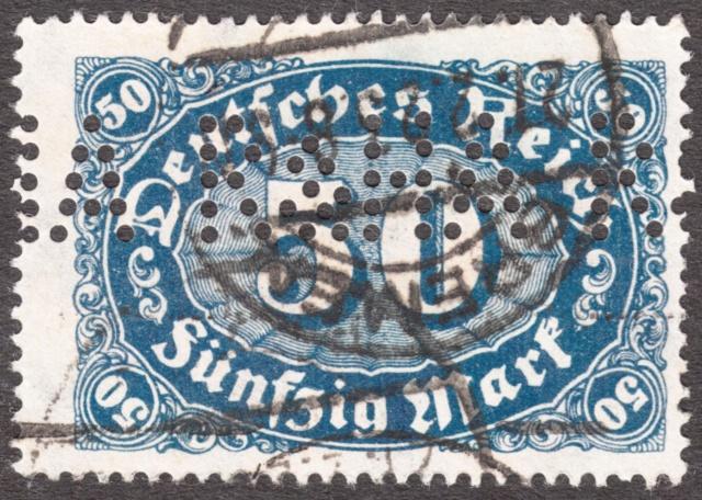 """Deutsches Reich Perfin """"R&HA"""" Img_0167"""