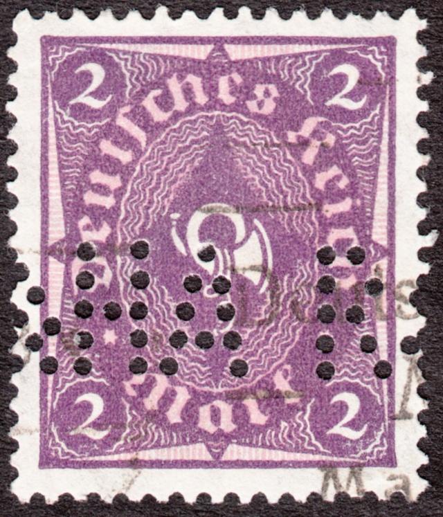 """Deutsches Reich Perfin """"R&HA"""" Img_0169"""