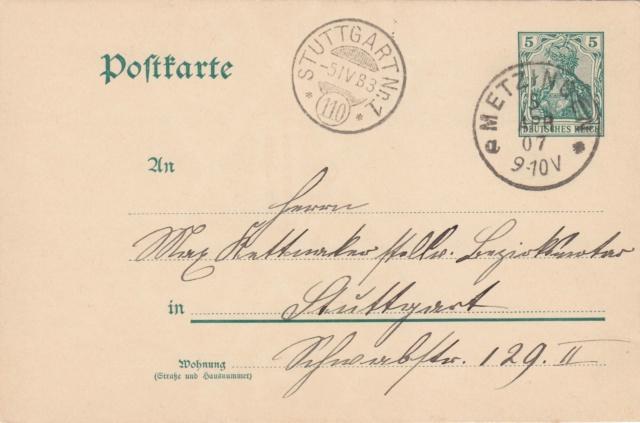 Württemberg - STUTTGART - Briefträgernummernankunftsbestellgangsstempel Img_0248