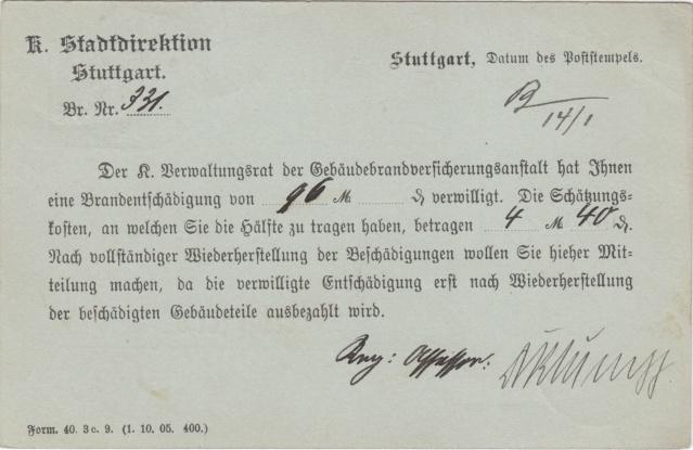 Württemberg - STUTTGART - Briefträgernummernankunftsbestellgangsstempel Img_0262