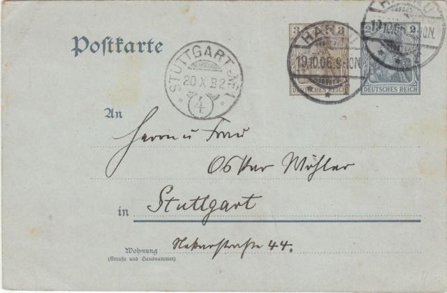 Württemberg - STUTTGART - Briefträgernummernankunftsbestellgangsstempel Img_0265