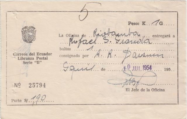 "Libranza Postal Serie ""B"" Img_0288"