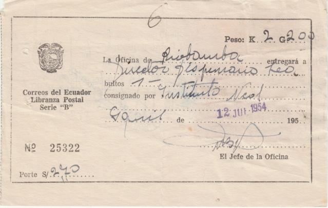 "Libranza Postal Serie ""B"" Img_0290"