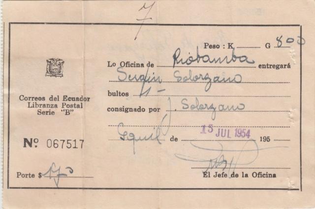 "Libranza Postal Serie ""B"" Img_0292"