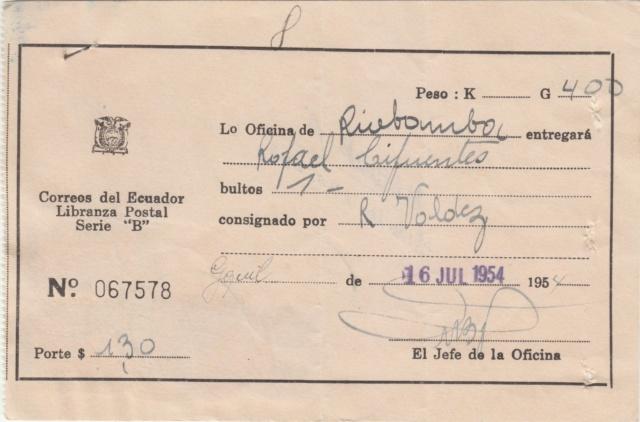 "Libranza Postal Serie ""B"" Img_0294"