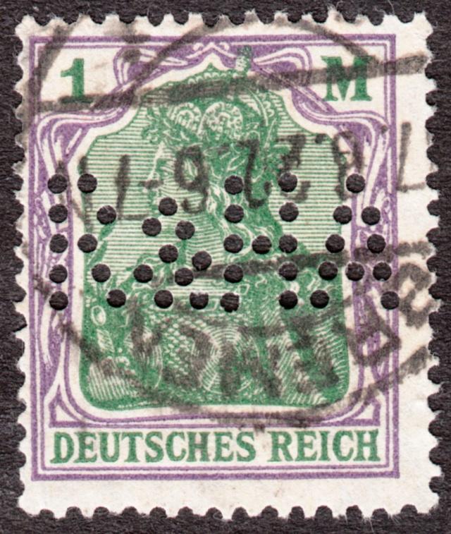 """Deutsches Reich Perfin """"R&HA"""" Img_ko37"""