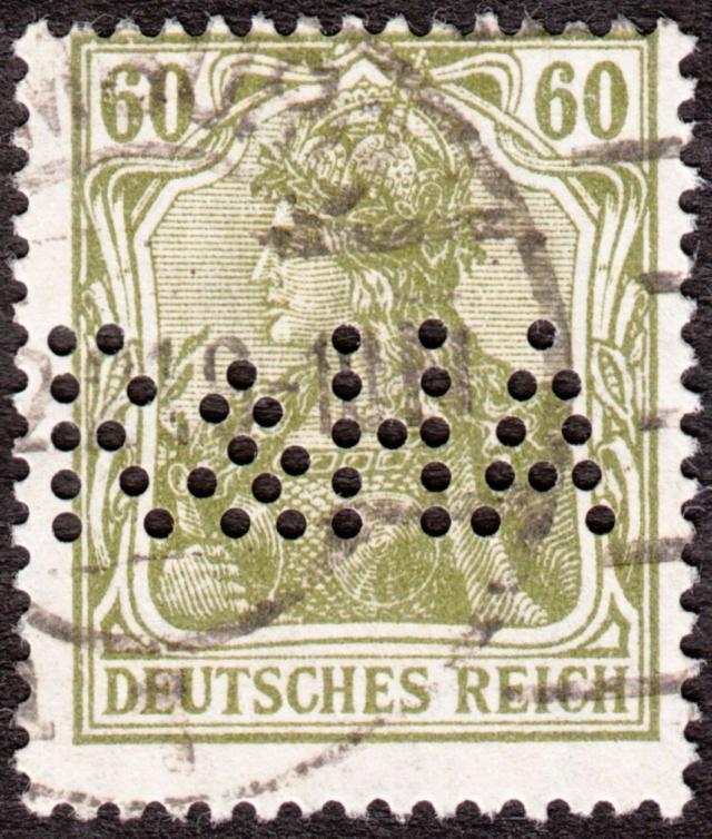 """Deutsches Reich Perfin """"R&HA"""" Img_ko38"""