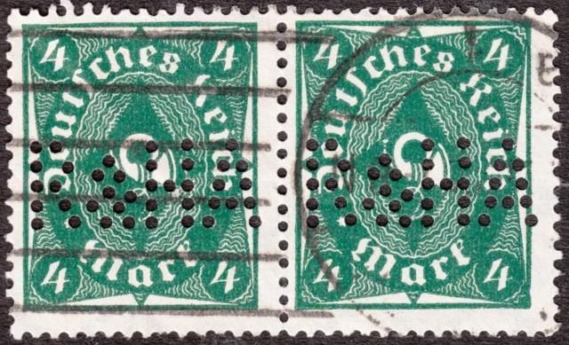 """Deutsches Reich Perfin """"R&HA"""" Img_ko40"""