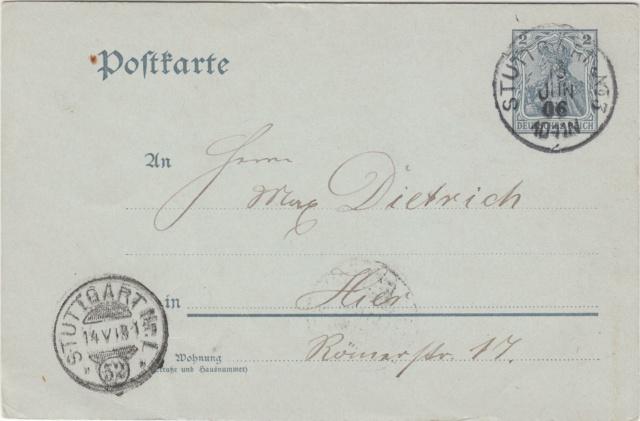 Württemberg - STUTTGART - Briefträgernummernankunftsbestellgangsstempel Img_ko70