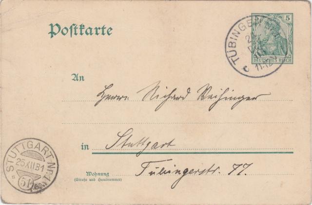 Württemberg - STUTTGART - Briefträgernummernankunftsbestellgangsstempel Img_ko71